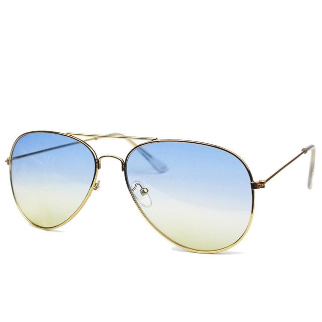 7e4ed9273 Zlaté modro - žluté sluneční brýle Aviator - Pilotky | Stylové ...