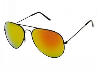028763f7d52 Černé rudě zrcadlové sluneční brýle Aviator - Pilotky empty