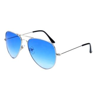 2de73f0dfb2 Stříbrné modré sluneční brýle Aviator - Pilotky empty
